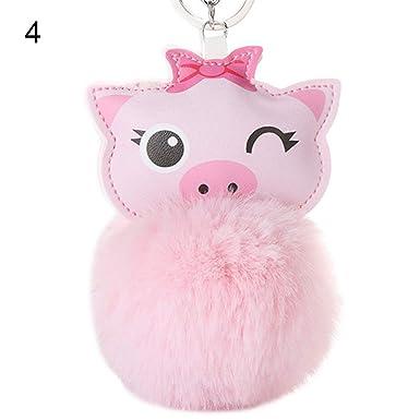Amazon.com: Llavero con diseño de cerdo con dibujos animados ...