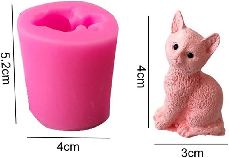 Baking Mold SJJL 3D Cat Candle Mold,Cat Silicone Mold,Cat Soap Mold,Fondant Chocolate DIY Decor