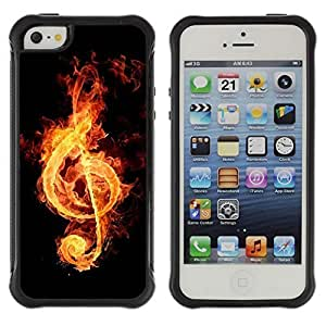 fashion Case / Fire music notation / Apple Iphone 5 / 5S