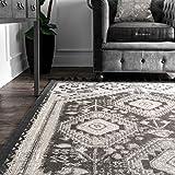 nuLOOM Noreen Kilim Tassel Area Rug, 8' x 10', Grey