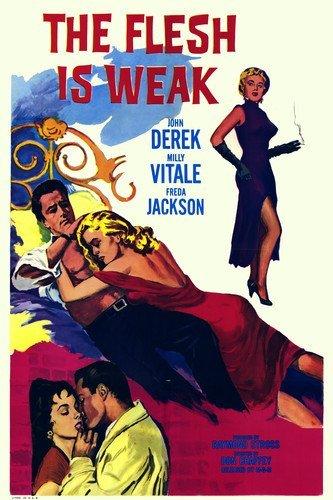 Milly Vitale and Freda Jackson and John Derek in The Flesh Is Weak 11x17 Mini Poster