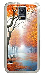 Beautiful Autumn Clear Hard Case Cover Skin For Samsung Galaxy S5 I9600