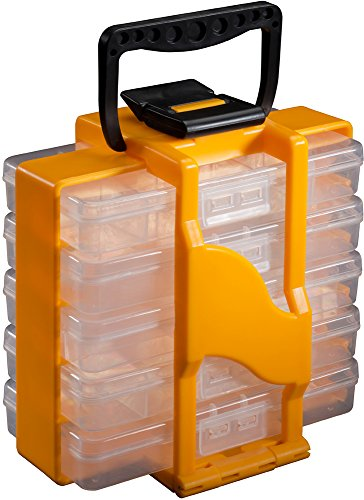 Stack-On Smart Parts Organizer Tote, Yellow