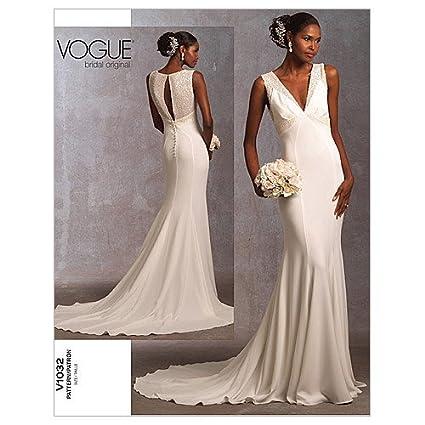 d5120568b66 Amazon.com  Vogue Pattern 1032 Misses Wedding Dress Size 6-8-10  Arts