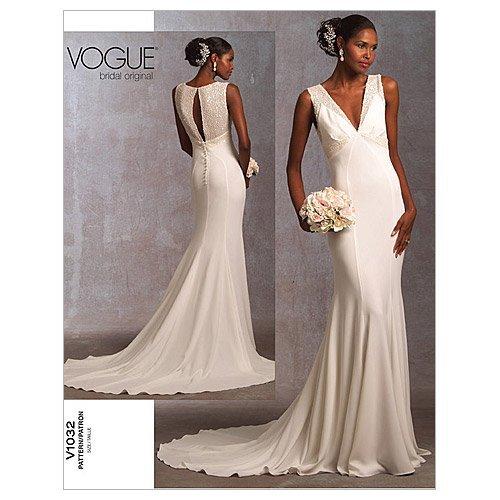 (Vogue Pattern 1032 Misses Wedding Dress Size 12-14-16)