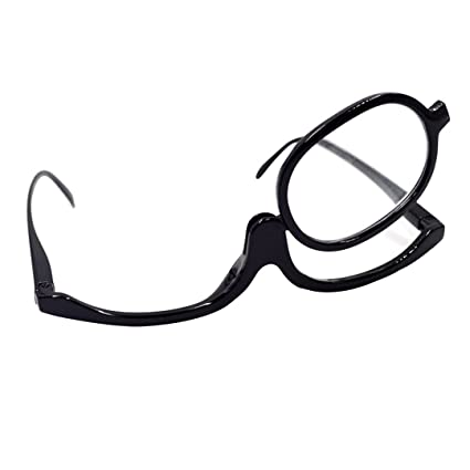 5a40c9ce09d Image Unavailable. Image not available for. Color  Readers Magnifier  Magnifying Makeup Glasses Flip Down Lens Folding Cosmetic Womens Make Up ...
