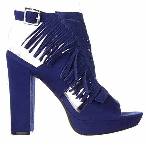 Bar Iii Dames Nero Open Teen Enkelband Platform Pumps, Blauw, Maat 9
