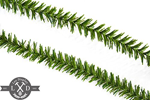 25FT Alpine Green Tinsel Garland Alpine Green Tinsel Garland 3IN Width Tinsel Garlands for Christmas Decorations Holidays Parade Floats Indoor/Outdoor Parties Parades Home Decor (1in)]()