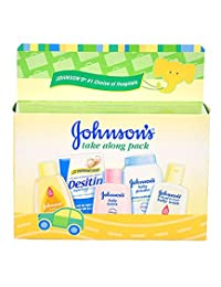 Johnson & Johnson Baby Take Along Travel Pack (Baby powder, Wash, Shampoo, Lotion, Desitin) BOBEBE Online Baby Store From New York to Miami and Los Angeles