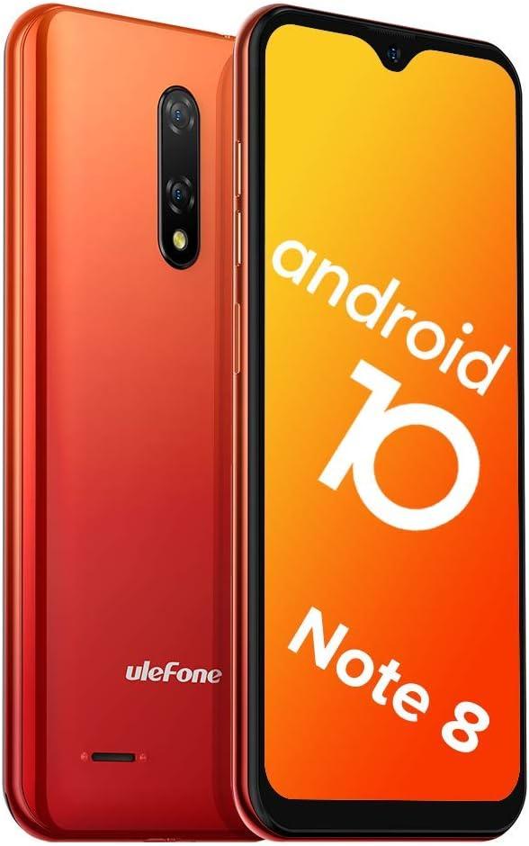 Teléfono Móvil Libre, Ulefone Note 8 Android 10 3G Smartphone Libre, 2GB RAM 16GB ROM Smartphone, Pantalla 5.5