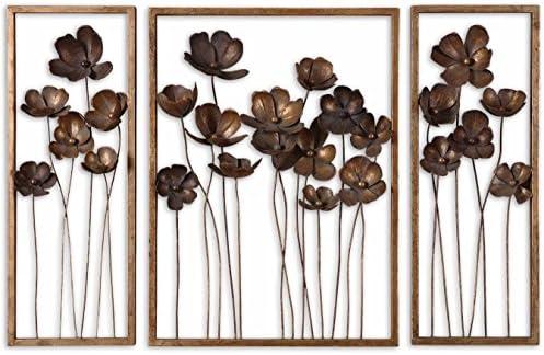 Uttermost Metal Tulips Wall Sculpture