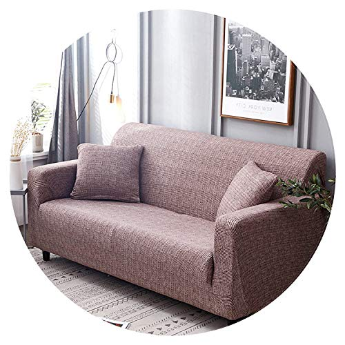 slipcovers Sofa Elastic Stretch Cotton Tight wrap All-Inclusive Slip-Resistant Armchair loveseat sectional Couch Cover Full Sofa,Color 8,Cushion Cover 2pcs (Edmonton Sectionals)