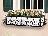 60in. San Simeon Window Box Cage (Square Design) - Black