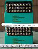 Supply Guy 4mm Tootsie Roll Cashew Apple Ale Font Metal Stamp Letter Set, Available in Uppercase, Lowercase or Combination Set (COMBINATION - SGCH-TOOTUL4MM)