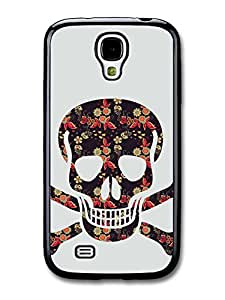 Hipster Floral Skull and Crossbones Cool case for Samsung Galaxy S4