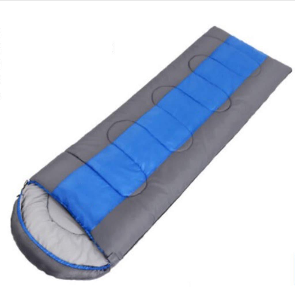 Bleu 1 kg YUN HAI Sac de Couchage à Capuchon Cold Season - Enveloppe Sac de Couchage léger, portatif, imperméable, Confortable et à Compression Parfaite pour la randonnée et Le Camping.
