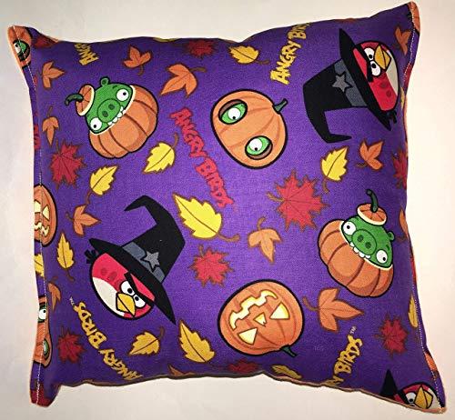 Angry Birds Pillow HANDMADE in USA Halloween, Pumpkin,