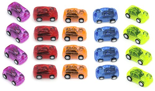 Toy Cubby Mini Pull Back and Let Go Fast Racing Car - Pack of 24 - 2 Assorted Colors Racer Vehicles - Amazing Gift idea!