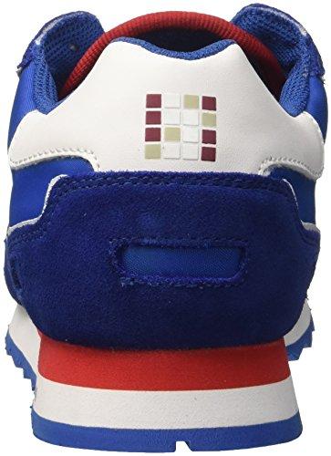 Trussardi Jeans Running Mesh, Scarpe da Ginnastica Uomo Multicolore (Blue/Red)