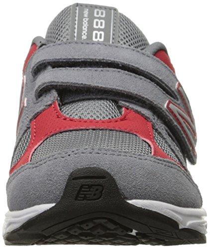 New Balance kv888V1Pre Zapatilla de Running (Little Kid) Gris/Rojo