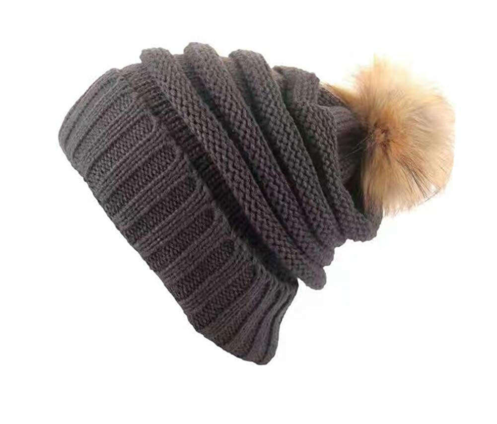 WANGSCANIS Wangs Canis Gorro Baggy Mujer Invierno Crochet Tejer ...