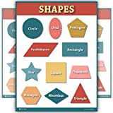 Shapes Colored Nursery Kids Laminated Large - Young N Refined (18x24)