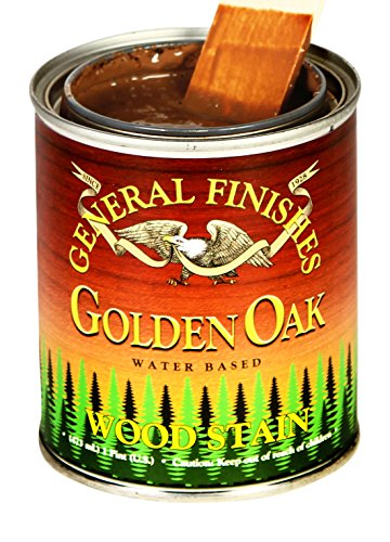 General Finishes WGPT Water Base Wood Stain, 1 Pint, Golden Oak ()