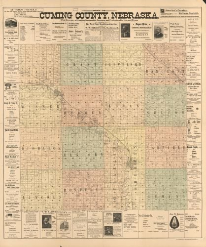 1900 Map of Cuming County, Nebraska : with directory of leading business and professional men and - Cuming Men