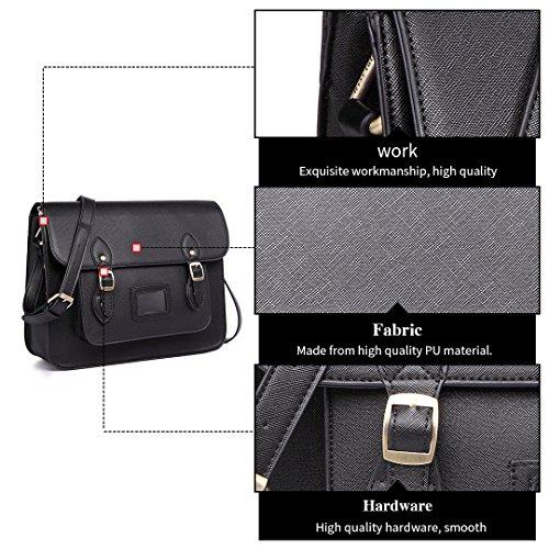 Cross Bag Work Bag School Black Messenger Bag Shoulder For Miss Lulu Body tqwnXg