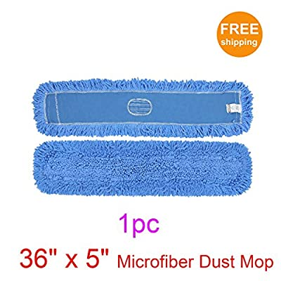 """1pc 36"""" x 5"""" SunnyCare #25362-1 Blue Microfiber Dust Mop"""