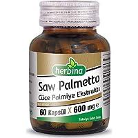 Herbina Saw Palmetto Cüce Palmiye Ekstraktı 600 mg x 60 Kapsül