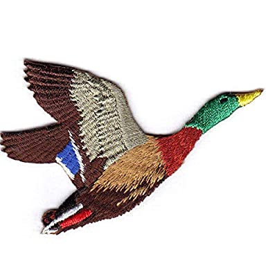 MALLARD DUCK FLYING Iron On Patch Birds Ducks Hunting: Everything Else