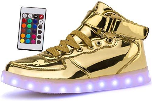 Metallic High Top Sneaker - 4