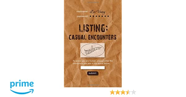 Casual Encounter Listing