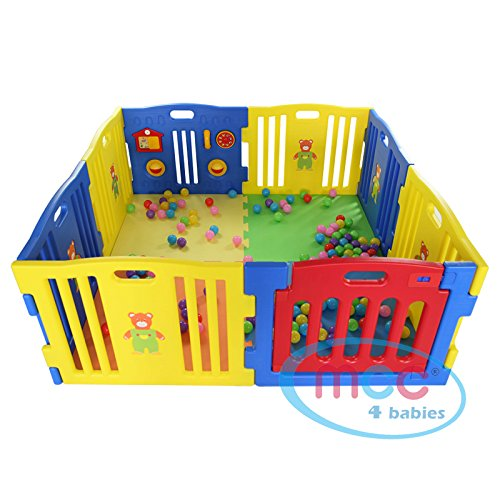 MCC Plastic Baby Playpen 8 Sides with Activity Panel Mcc® MCC08D