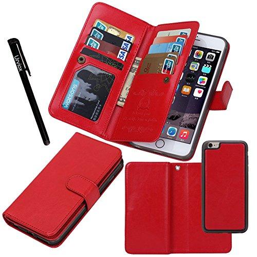 Urvoix for Apple iPhone 6 Plus / 6S Plus (5.5'), Wallet Leather Flip Card Holder Case, 2 in 1 Detachable Magnetic Back Cover iPhone6 Plus / iPhone6S Plus (NOT for iphone6)