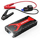 TENKER 2000A 19200mAh Portable Car Jump Starter Auto Battery Booster Pack with Dual USB Outputs, Type-C Port, and LED Flashlight