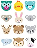 Animals Pattern Paper Hang Tag Assorted Lot Digitally Print Craft Kids Toys Tags
