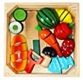 Joyin Toy Wooden Cutting Food Pretend Play Food Set