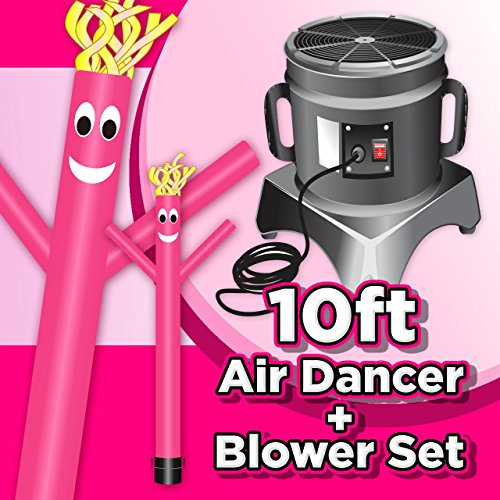Wholesale Inflatables 10ft Tall Air Dancer Set Inflatable Tube Man Puppet with Blower - Pink (Wholesale Inflatables)