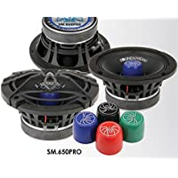Soundstream SM.650PRO 6.5 Inch 125 Watts RMS Pro Audio MID-Range Speakers PAIR 4 Ohm (250W Max)
