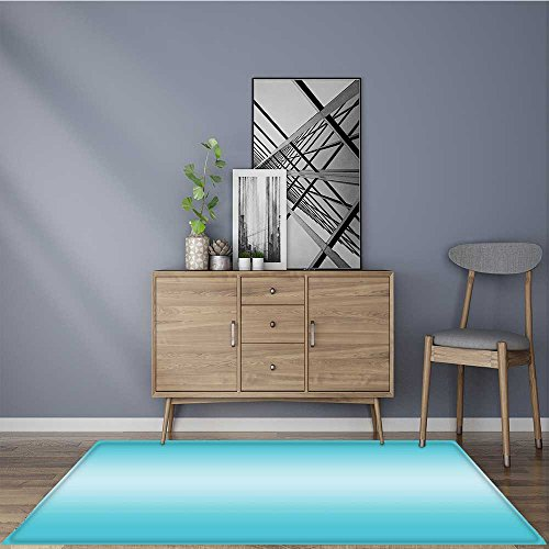 Modern Carpet Home Decoration Open Blue Sky on a Day Inspired Blue Design Anti-Static, Water-Repellent Rugs 5' X 7'