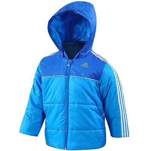 adidas Baby Jacke I J P Boys JKT Jungen dick gefütterte Winterjacke Blau Kapuze Blau