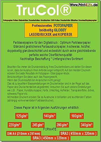 Papel fotográfico Colour Laser DIN A4 - Din A3 - SRA3 doble cara ...