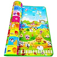 SHOPPOWORLD Double Sided Water Proof Baby Mat Carpet Baby Crawl Play Mat Kids Infant Crawling Play Mat Carpet Baby Gym Water Resistant Baby Play & Crawl Mat(Size - 5 Feet X 6 Feet)