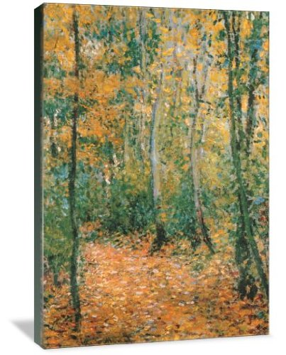 Wood Lane 16'' x 24'' Gallery Wrapped Canvas Wall Art by ArtsyCanvas (Image #3)