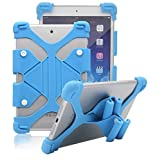 "Universal Shockproof Case for 9-11 inch Tablets,Tsmine Soft Silicone Stretchable Case with Stand for Amazon Fire HD 10 / iPad Air / LG Gpad/ Samsung Galaxy Tab 9"" - 11"" Tablets, Sky Blue"
