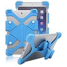 "Acer Iconia One 7 (B1-770) Case - Tsmine Universal ShockProof Soft Silicone Elastic Case Stand Handle Cover for Acer Iconia One 7 (B1-770) 7"" Tablet,Light Blue"