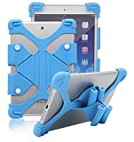 Tsmine Acer Iconia One 10 B3-A20 ShockProof Case - Universal Soft Silicone Elastic Case Stand Handle Cover,Light Blue