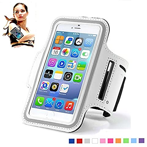 Sports Armband Water Resistant Cell Phone Sporty Armband for iPhone 8, 7, 6, 6S, SE, 5, 5C, 5S - Case Faceplate Cover Ipod